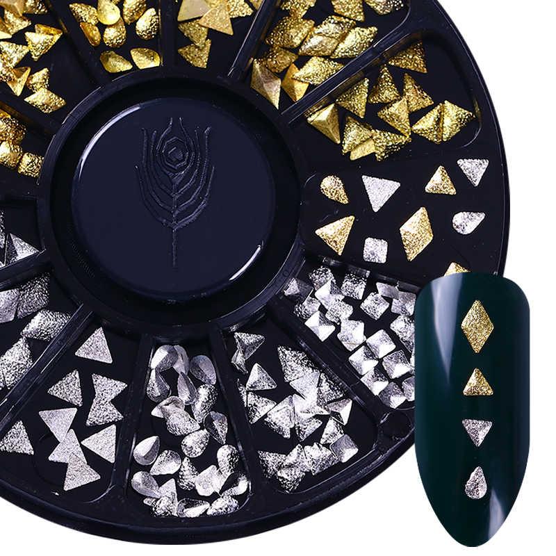 מעורב 3D DIY חלול מתכת מסגרת נייל אמנות UV ג 'ל פולני קישוטי זהב מסמרת אביזרי DIY מעטפת מחוון הרבעה