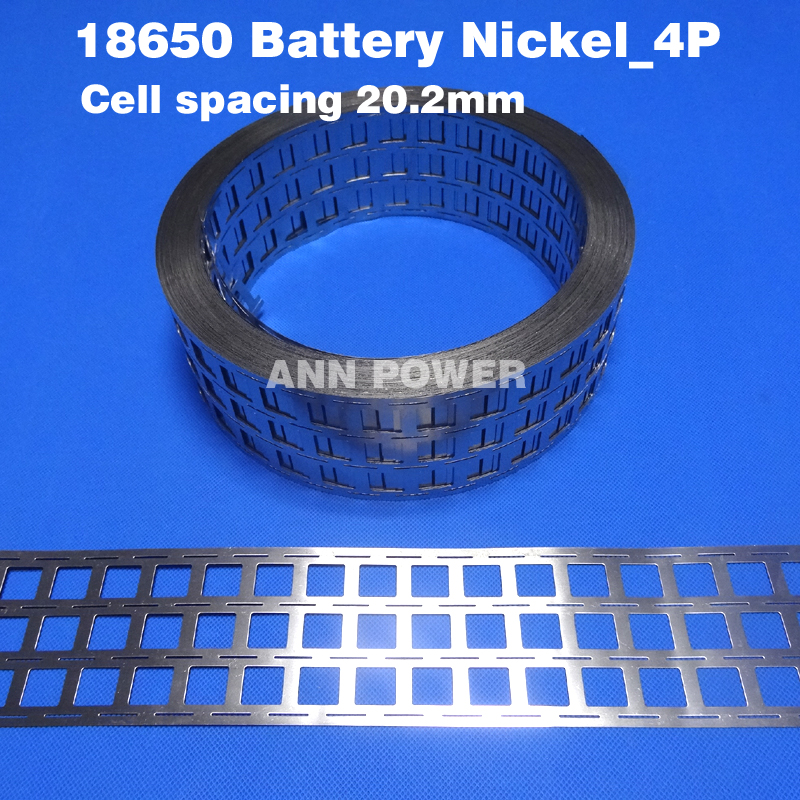 Free Shipping 18650 <font><b>battery</b></font> 4P nickel <font><b>belt</b></font> lithium ion <font><b>batteries</b></font> nickel tape Cell spacing 20.2mm For high power <font><b>battery</b></font> <font><b>pack</b></font>
