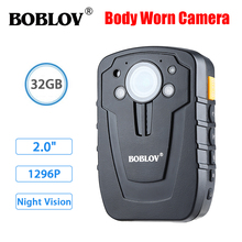 Boblov Mini Body Camera HD31-D Ambarella A7 32GB HD 1080P Police Cameras Body Lapel Worn Video Recorder DVR IR Kamara