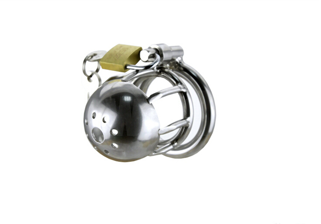 Stainless Steel Super Small Male Chastity Belt Adult Cock Cage With Holes arc-shaped Cock Ring Sex Toys Bondage Chastity device