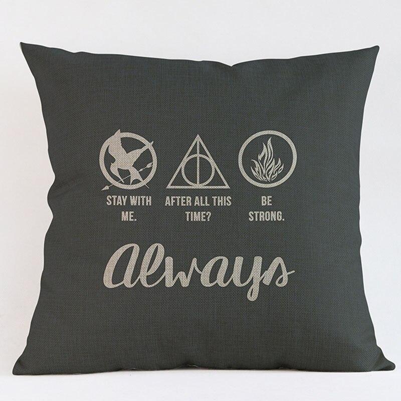 Harry Potter Style Housse De Coussin Elk Pillow Case Home Decorative Pillows Cover