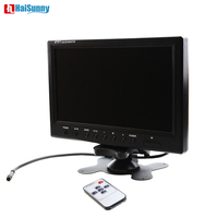 HaiSunny 9 TFT LCD Color 800 x 480 Car Monitor 9 Inch Screen With Widescreen Remote Support 2CH Video Input For Rear View Camera