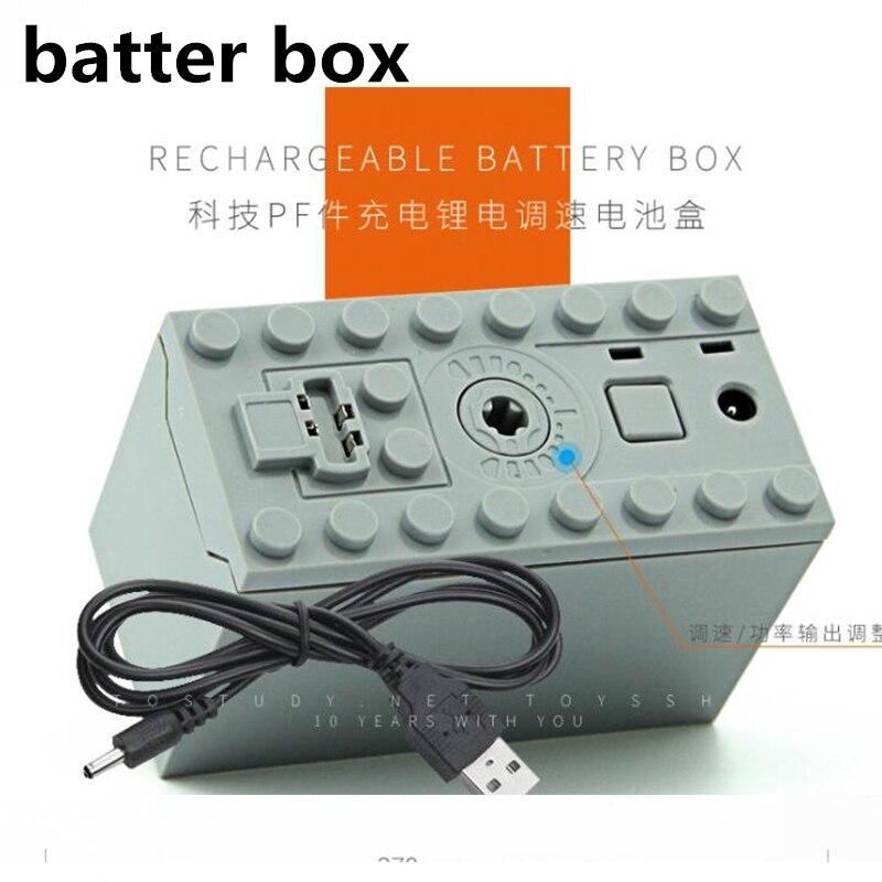 Technic Zug Motor Fernbedienung Empfänger LED Licht Batterie Box Power Funktionen legoinglys technic Power funktionen Blöcke Zubehör