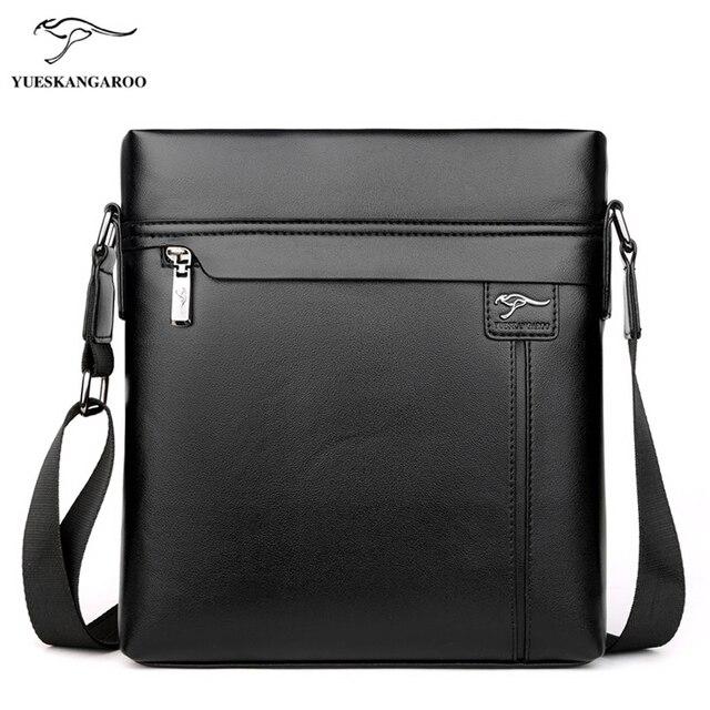 2cb5b42c4e47 YUES кенгуру мужская кожаная сумка через плечо модные сумки-мессенджеры  Высокое качество Повседневная сумка через