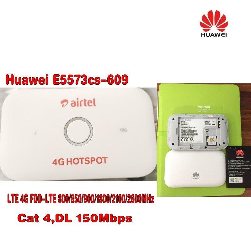 Galleria fotografica 100 pz Sbloccato <font><b>Huawei</b></font> E5573 E5573Cs-609 LTE FDD 150 Mbps 4g Pocket WiFi Modem Router Dongle