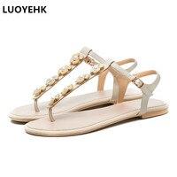 Large Size Flower Women Flat Sandals Summer Shoes Casual Beach Shoes Woman Sandals
