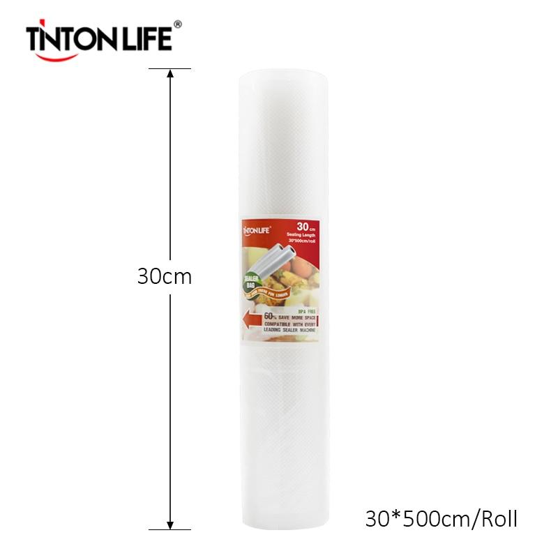 TINTON VITA 30 cm x 500 cm/rotolo Sigillatore di Vuoto Alimentare Saver Sacchetto di Uso Cucina Saran Wrap