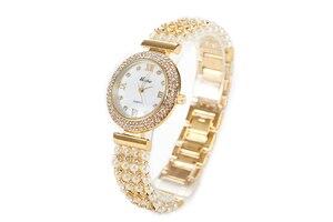 Image 2 - MISSFOX טבע פרל שעון נשים מפורסם מותג נירוסטה בחזרה מים עמיד זהב שעון קוורץ יהלומי שעון נשים