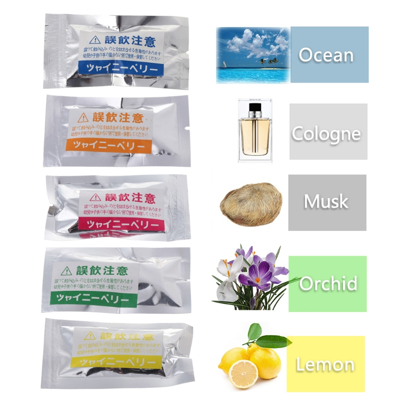 2017 Auto Accessories Car-styling Car Perfumes Refills Original 5ml Solid Air Freshener Refill Flavoring Car Perfumes 2pcs/set