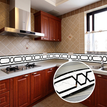 цена Wallpaper Borders PVC Waterproof Self-Adhesive Wall Stickers Home Decor Kitchen Bathroom Waistline Baseboard Vinyl Wall Paper 3D онлайн в 2017 году