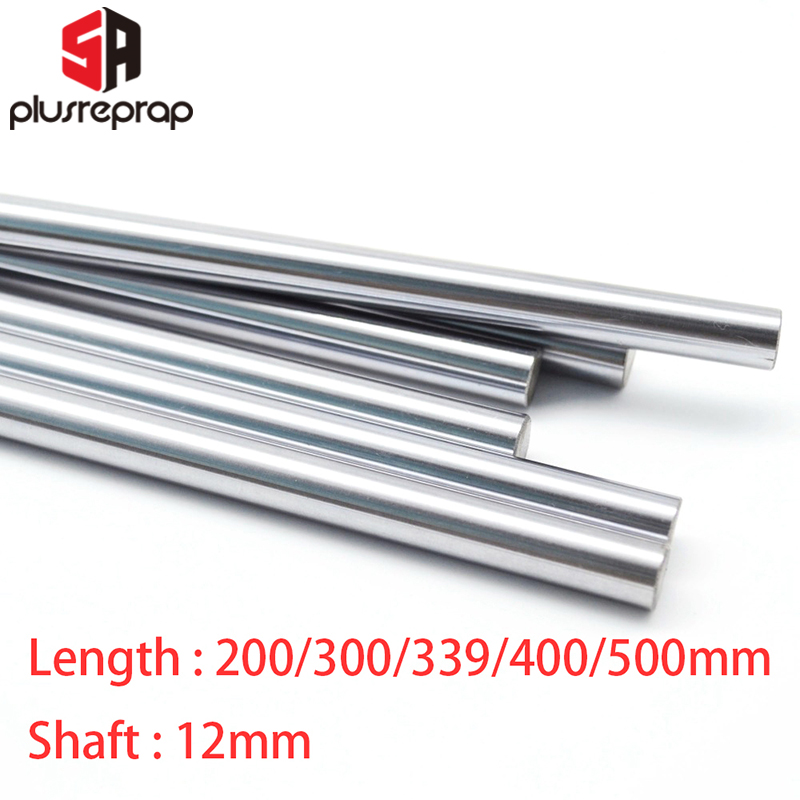 CNC Parts Liner Rail OD 12mm Length 200mm 300mm 339mm 400mm 500mm Linear Shaft Smooth Rod For 3D Printer Part