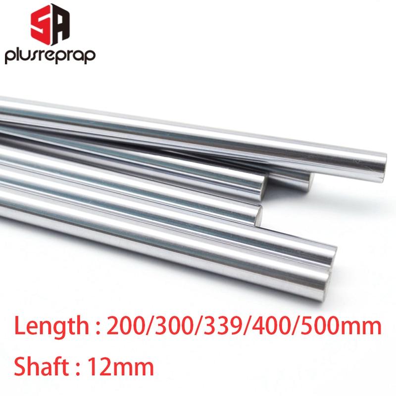 CNC Parts Liner Rail OD 12mm Length 200mm 300mm 339mm 400mm 500mm Linear Shaft Smooth Rod For 3D Printer Part