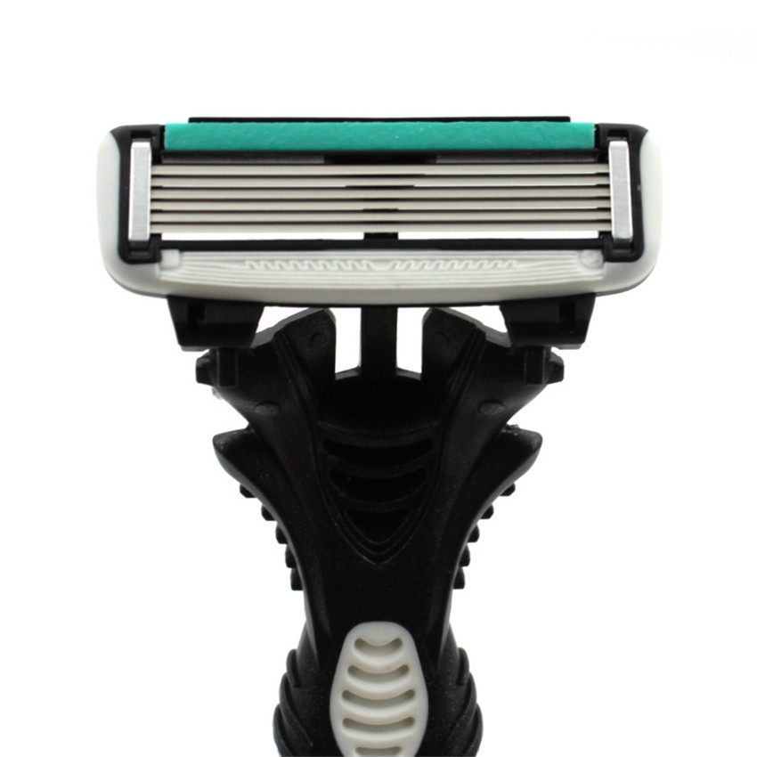 Original Men's Razor Blade 6 Layer Shaver Travel Manual Shaving Razors Machine with Original Handle Safety Razor 3