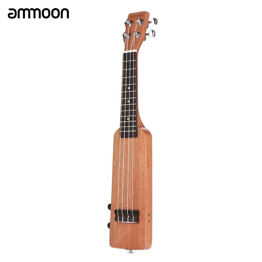 ammoon Creative 21 Solid Wood Okoume Electric Ukulele Ukelele Uke with 3 5mm 6 35mm Outputs
