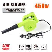NEW 2 IN 1 Electric Leaf Blower Vacuum Mulching 450W 14000RPM Portable Blower
