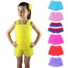 Розничная ; Детские однотонные кружевные шорты с оборками для девочек; школьная одежда для детей; Изысканная одежда для девочек; От 1 до 12 лет