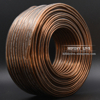 HI FI DIY 20~80 M Oxygen Free Copper 200 300 400 600 CoreSpeakers loudspeaker Wire Cable Audio line Cable Fancier OFC Pure