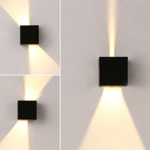 Buy ip65 cube adjustable surface mounted for Exterior up down wall light