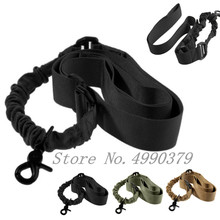 Tactical One Single Point Bungee Rifle Gun Sling Strap Airsoft Military Hunting System Universal Strap Heavy Duty tactical hunting gun sling adjustable 1 single point bungee rifle sling strap system new 3 colors