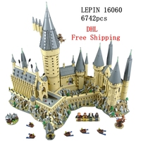 Dhl Free Lepin 16060 Harry Movie Potter Series The Hogwarts Castle House Set Legoings Building Blocks Bricks Kids Toys
