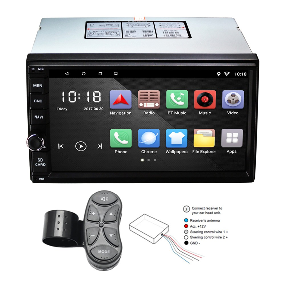 Universal 2 Din Android 6.0 Car GPS Navigation 7'' Quad Core Mirror Link Bluetooth Car Radio RDS Support Rear View Camera DVR