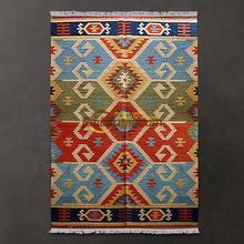 Геометрический Коврик/Средиземноморский стиль решетки тонкие ковры-килим ручная тканая шерсть/Гостиная Коврик для кофейного столика gc137-46