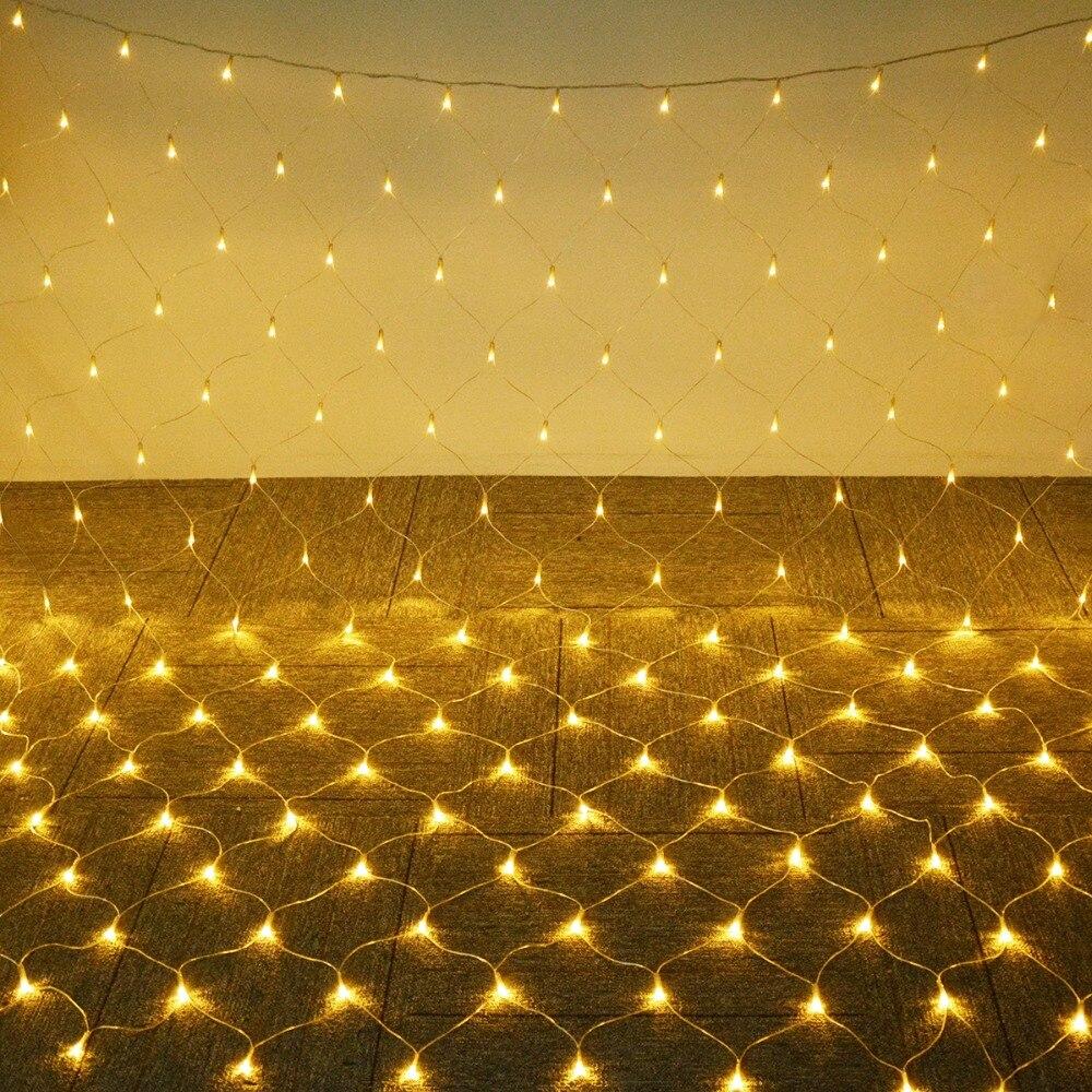 1.5*1.5 m/3*2 m/6*4 m Net Maille Guirlande LED 220 v extérieure Fée lumière Étanche Jardin De Noël Arbre Windows Rideau Décoration lampe