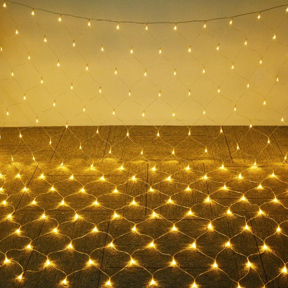 1,5*1,5 mt/3*2 mt/6*4 mt Net Mesh LED String 220 v outdoor Fee licht Wasserdicht Garten Weihnachten Baum Windows Vorhang Dekoration lampe