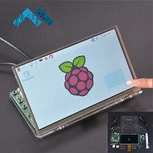 7 дюймов Raspberry Pi 1024*600 TFT ЖК-дисплей Дисплей Сенсорный экран Мониторы драйвер платы модуля HDMI VGA 2AV прозрачный акриловый кронштейн