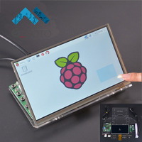 7 Inch Raspberry Pi 1024 600 TFT LCD Display Touch Screen Monitor Driver Board Module HDMI