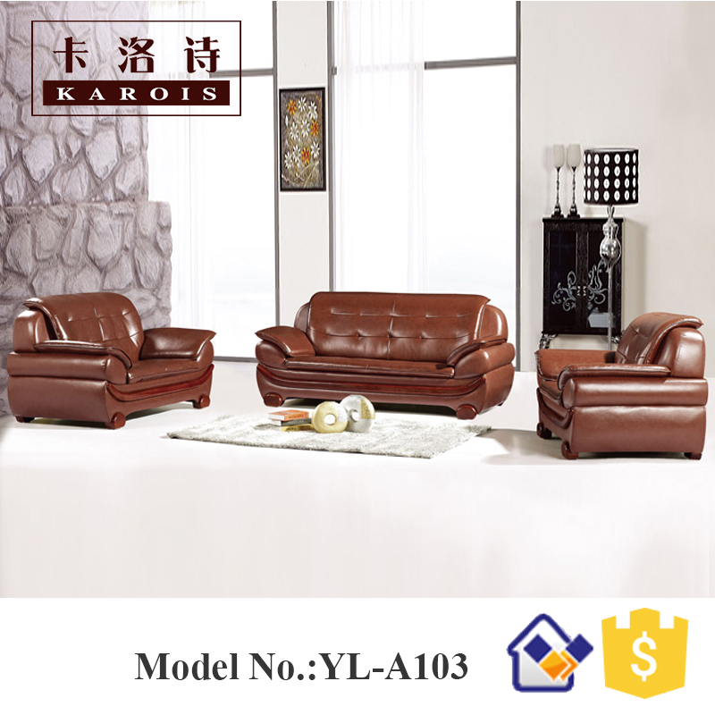 2016 Malaysia Design Furniture Leather Sofas Set Specific Use Living Room
