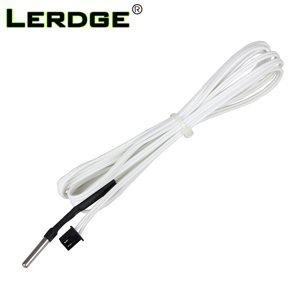 LERDGE 3D Printer Parts HT-NTC100K Thermistor Temperature Sensor For High Temperature Filament 350 Degrees B3950 For1M 2M