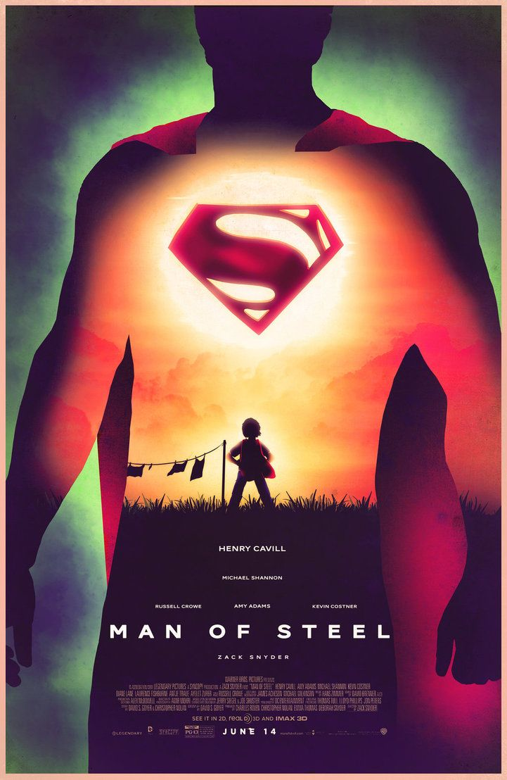 3d poster design online - Man Of Steel Design Movie Film Poster Vintage Retro Decorative Diy Wall Stickers Home Posters Art
