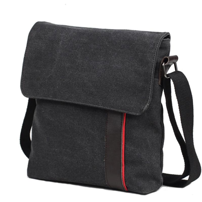 0a019c030 Canvas Messenger Bag Male Vertical Daily Man Shoulder Bag Black ...