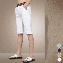Sommer 2017 mode gürtel dekoriert boutique baumwolle Kontrast farbe Männer freizeit shorts/Männlichen Weißen dunkelblau casual strand shorts
