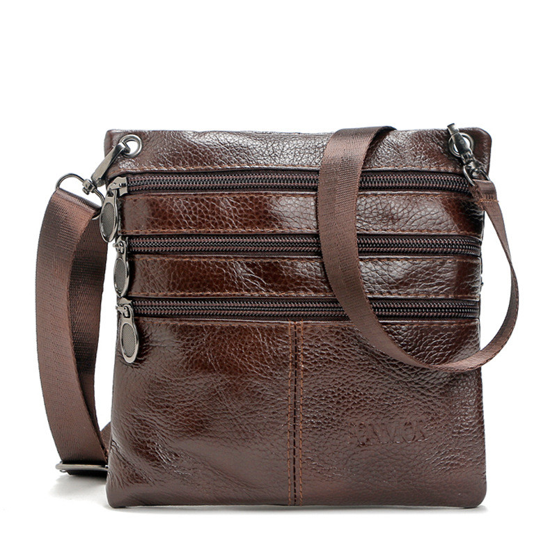 Mens Bags Genuine Leather male Crossbody Bags strap Small Casual Flap Men Cow Leather messenger bag mens shoulder bag 2018