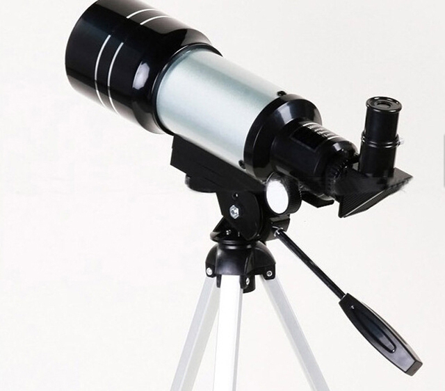 Professional Astronomical Monocular Telescope F30070M Silver with Tripod Barlow Lens Eyepiece Moon Filter For Astronomic Space