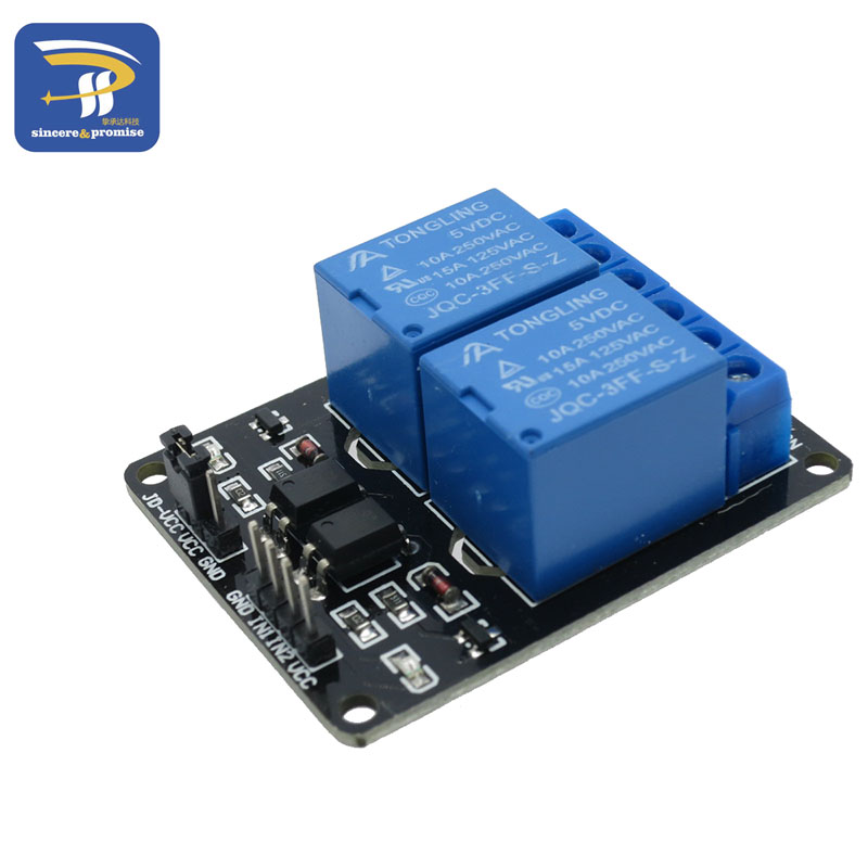 2-channel New 2 Channel Relay Module Relay Expansion Board 5V Low Level Triggered  2-way Relay Module For Arduino