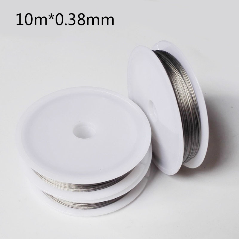 10M Fishing Line With Coating Wire Strands Strong Stainless Steel Fishing Durable 0.3-0.5mm Thickness