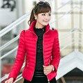 2016 Mulheres New Hot Moda Inverno Mulheres Jaqueta Magro Escritório Ladies Zippers para Elagente Ladies Coats Jaquetas D047