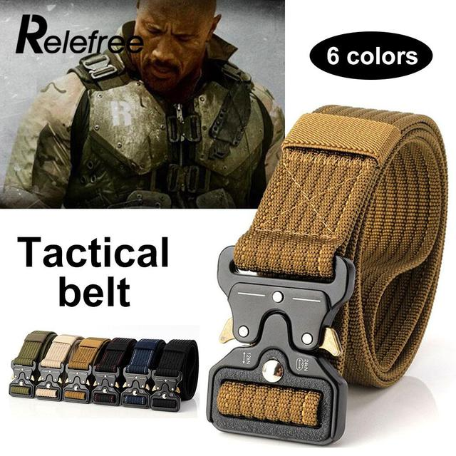 Men Women Emergency Survival Training Belt Tactical Belt Outdoor Waist Straps Safety Hunt