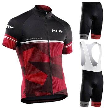 Verão 2019 Equipa NORTHWAVE Ciclismo JERSEY Ropa ciclismo de secagem rápida dos homens de Bicicleta vestuário GEL respirável curto bib conjuntos