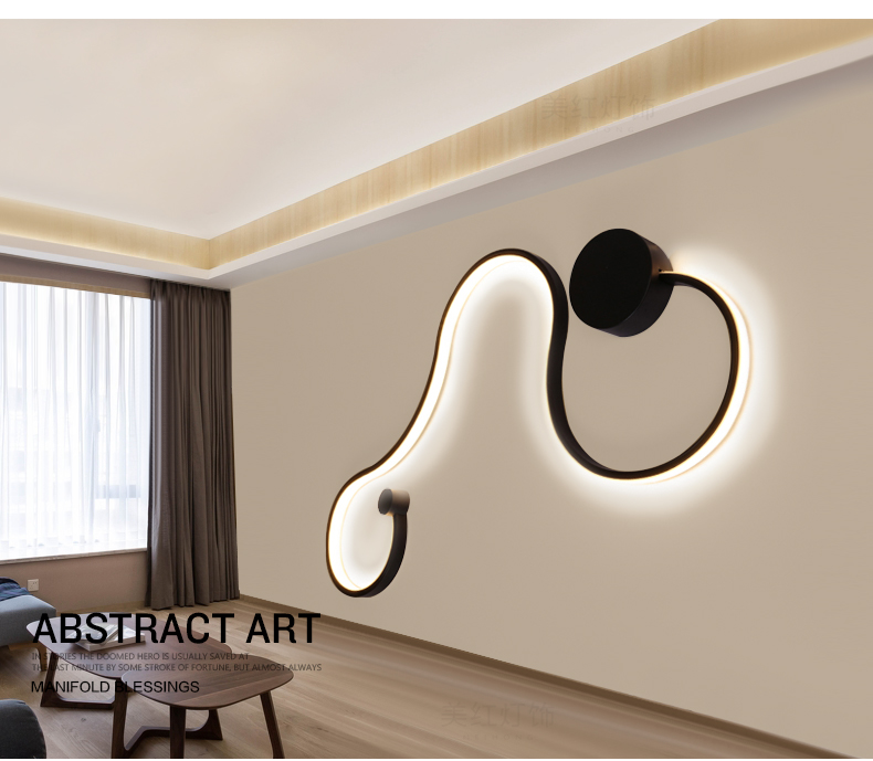 HTB1jwERVwHqK1RjSZFPq6AwapXaZ - Sconce/led wall lights dimmable/bedroom/bedside wall lamps modern/black/white wall lamps for home/living room/foyer aluminum