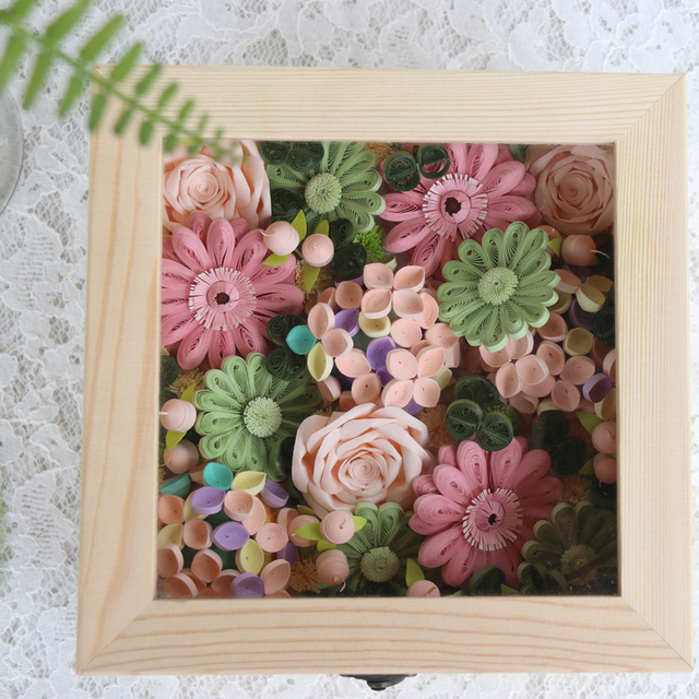 Free Shipping1 Box SetHappy Flowers Quilling Paper Flower