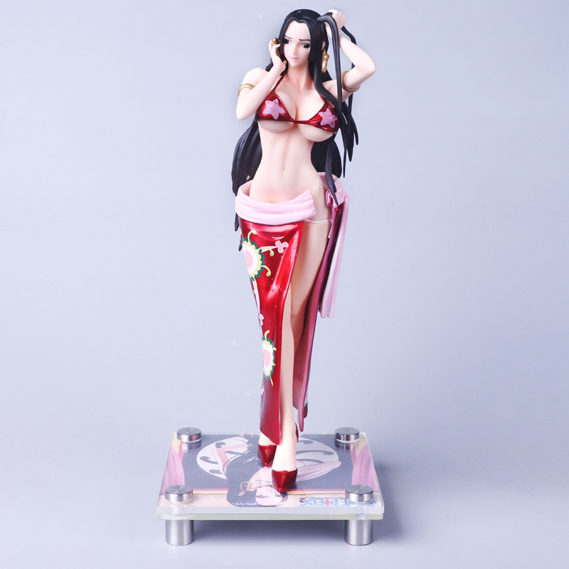 ONE PIECE Sexy Anime GK Female Emperor Boa Hancock Change Clothes Action Figures Classic Model Toys Collect Edition 36cm nintendo gbc game video card pokemons classic collect classic colorful edition