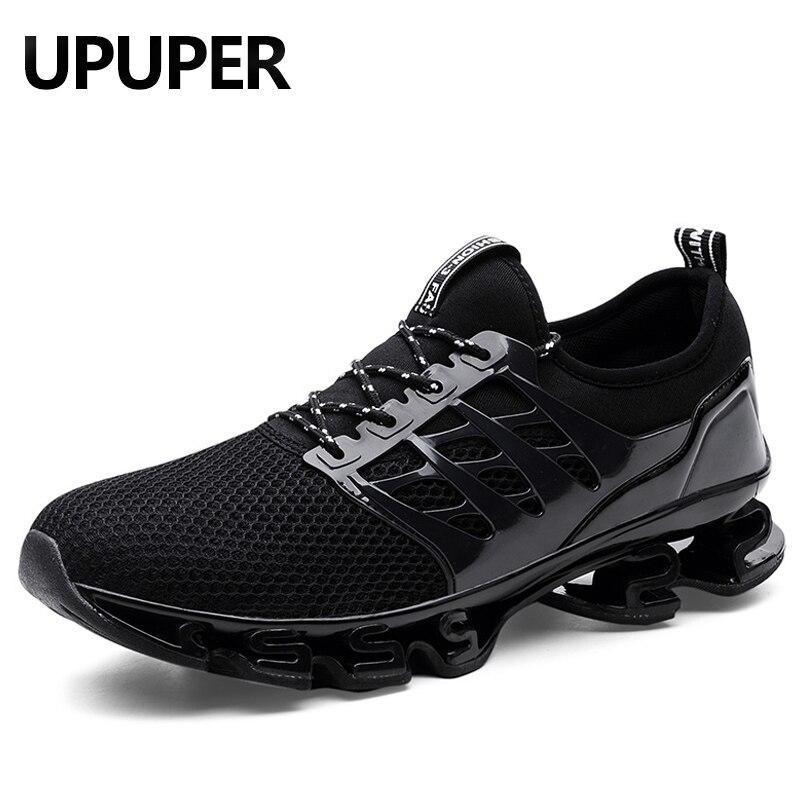 Talla grande 36-48 hombres mujeres zapatillas de correr para hombres al aire libre respirables hombre zapatillas Jogging deporte Blade hombres zapatos de senderismo