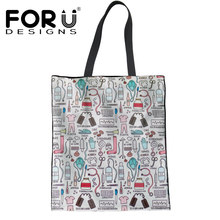 c84925cbda0e FORUDESIGNS Shopping Bag Canvas Women Nurse Tote Bags Handbags Reusable  Fashion Girls School eco Bag Mom Shoulder Shopper Bag