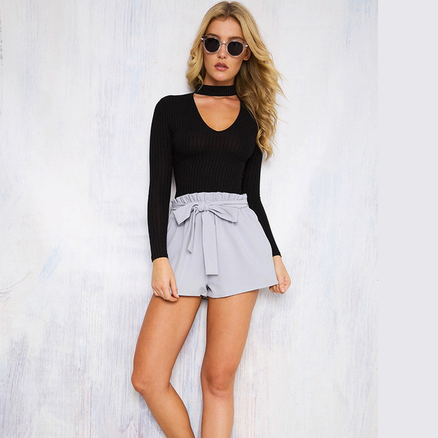 Jumpsuit Female Body With Long Sleeves Sexy Bodysuit