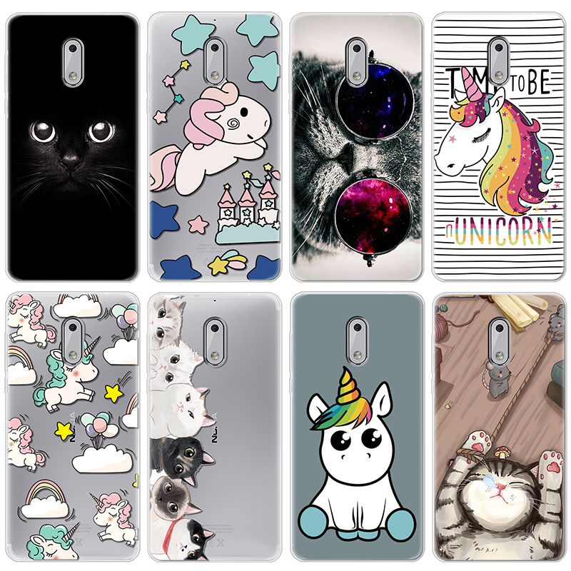 Unicorn Soft TPU <font><b>Fundas</b></font> Coque For <font><b>iPhone</b></font> X XS Max XR 5 SE 6 6 S <font><b>8</b></font> 7 Plus Cute Phone Cases Luxury For <font><b>Nokia</b></font> 2 3 5 <font><b>8</b></font> 6 7 Plus Case image