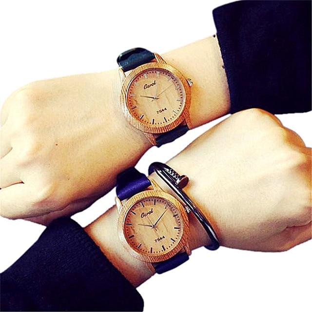 Hot Sale Couple Watch Male and Female Students Minimalist Fashion Lovers Quartz